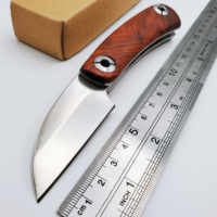 JSSQ Razor Folding Knife D2 Blade Rosewood Handle Tactical Survival Pocket Knife Outdoor Camping Hunting Knives Multi EDC Tools