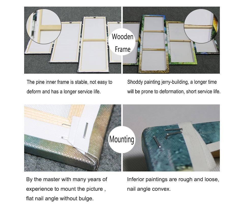 HTB14WTrdi6guuRkSnb4q6zu4XXaB Drop Shipping Customized Prints Painting Custom Made Canvas Picture Frame 5 Panel Modular Home Decor PENGDA