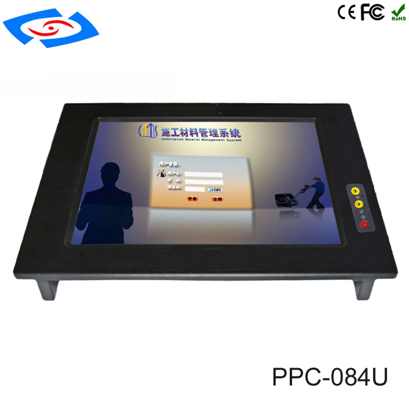 Embedded 8.4 Inch Touch Screen Industrial Monitors Panel PC With Intel Core I5-3317U Optional I7-3517U CPU For Cloud Computing