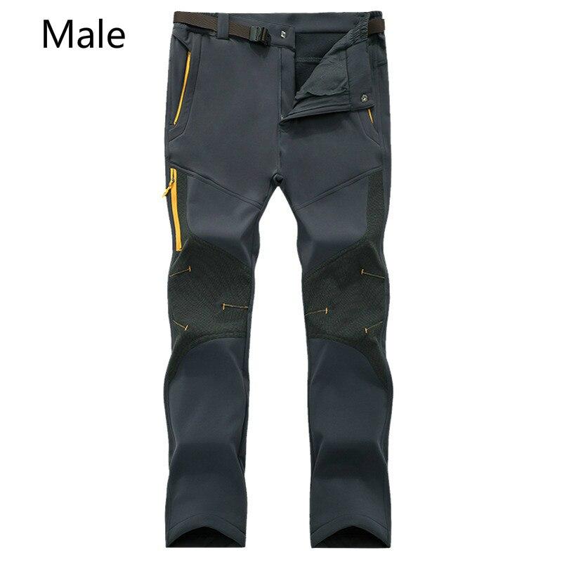 Hiver en plein air assaut pantalon hommes et femmes épaissi chaleureux coque souple saisir flanelle pantalon amateurs de ski pantalon d'escalade