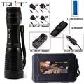 8000Lumens CREE XM-L T6 Focus Adjust Zoom Led Flashlight Torch( 18650 Battery +AC/Car Charger )