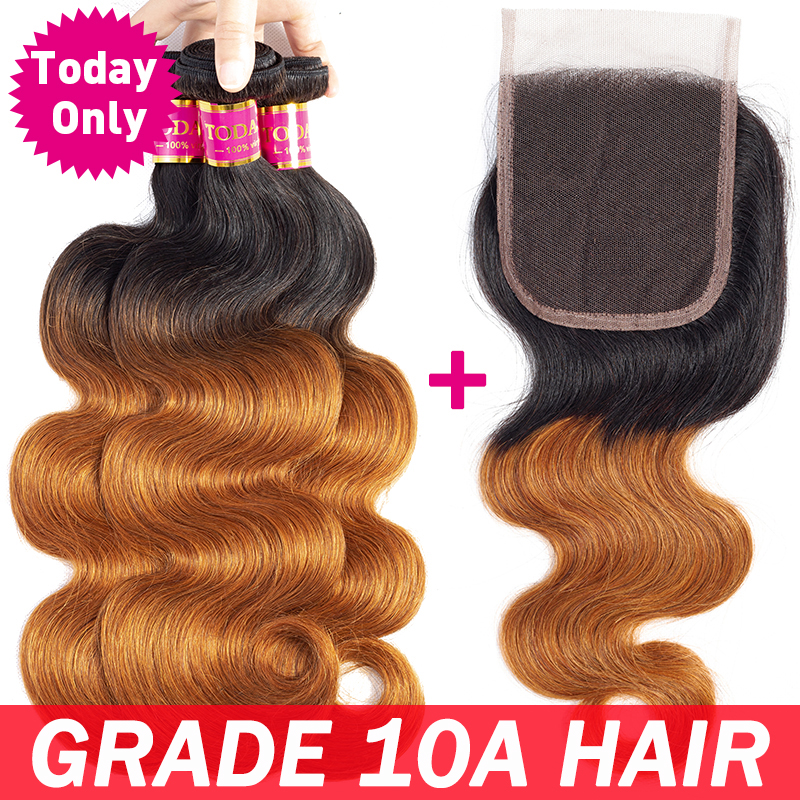 TODAY ONLY Brazilian Body Wave Bundles With Closure Brazilian Hair Weave Bundles With Closure Remy O