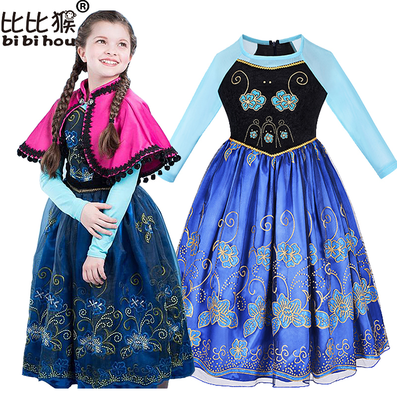 Children S Princess Girl Dress Kids Anna Elsa Costumes Dresses For Girls The Snow Queen Christmas