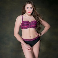 2017 Newest Push Up Bikini Set Brazilian Plus Size Women Swimwear Strip Sexy High Waist Swimsuit
