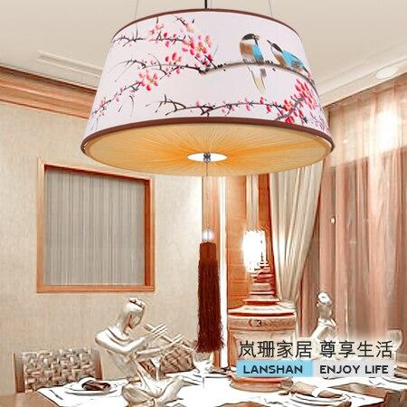 2017 temps limité Promotion papier clair Style chinois pendentif lumière salon lumières peinture chambre lampe étude éclairage D162
