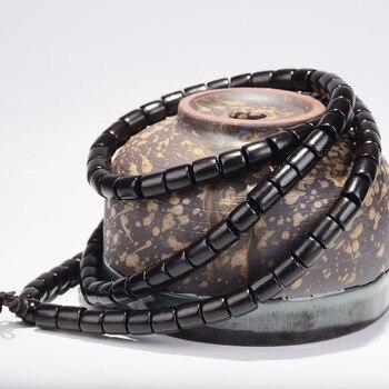 Bracelet en perles d'ébène naturel pour femme et hommes