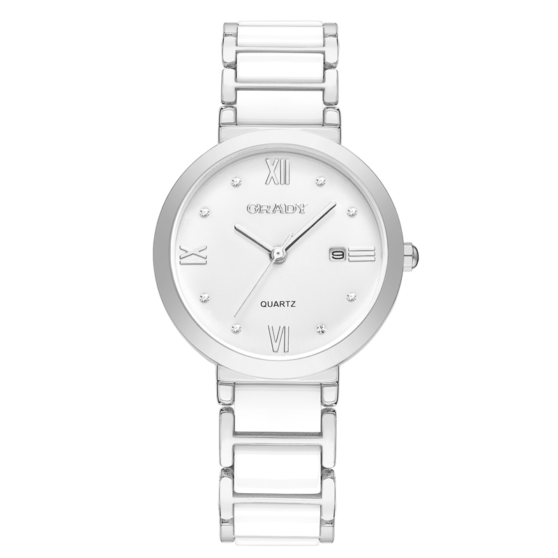 Бренд BUREI, женские часы, водонепроницаемые, модный керамический браслет, кварцевые наручные часы, женские, черные, золотые, белые, Relogio Feminino - 4