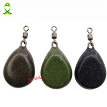 JSM 5pcs/lot 2OZ Coated Tapered Flat Pear Swivel Sinker Weights Flat Side Pear Weights Carp Fishing accessories