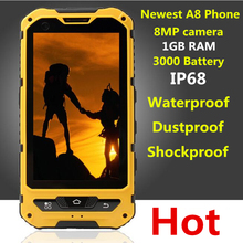 Original A8 IP68 A9 V9 Wasserdicht Stoßfest Robuste Telefon MTK6582 Quad Core Android 4.2 1 GB RAM 8 GB 3G GPS 8.0MP Handy