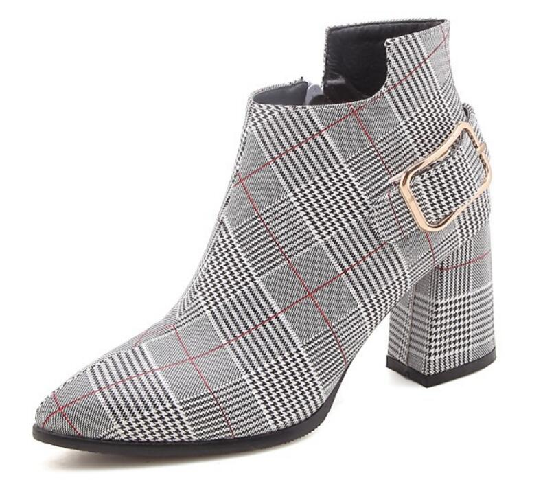 En De Mujer Xz180280 Luxe Bottes Zapatos Pompes Talons Grille Chunky Femme Hauts Chaussure red Chaussons Cheville Dames Femmes Chaussures Yellow Sapato Cuir wXqgtvgx