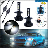High Power LED Headlight Bulbs H4 Hi Lo 6000K Xenon White Powered By Philips Luxeon