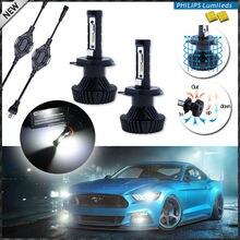IJDM Haute Puissance LED Phare Ampoules-H4 Salut/Lo-6000 K Blanc, alimenté Par Luxeon LED avec Amovible sans Ventilateur Radiateur