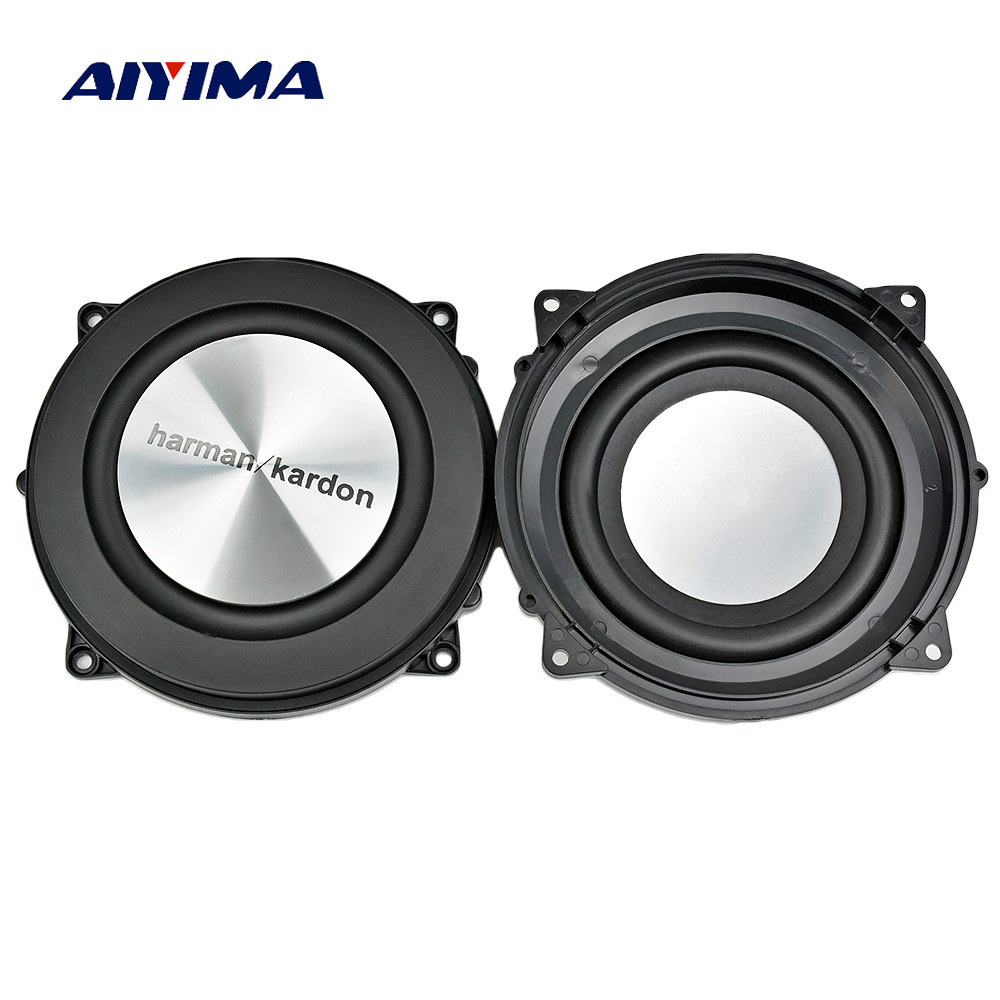 AIYIMA 2PC 4Inch 120MM Bass Radiator Passive Radiator Speaker Brushed Aluminum Auxiliary Bass Vibration Membrane For Woofer DIY