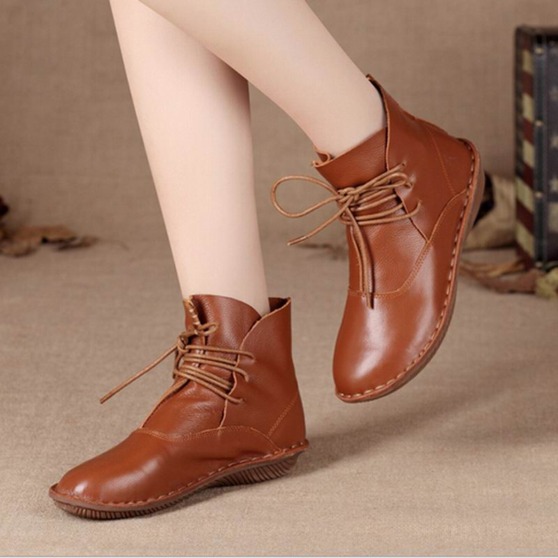 ce46fe5e0901d US $63.75 23% OFF Women 111% Genuine Leather Flats Nice Women Flats Women  Casual Pure Handmade Leather Shoes Female Work Shoes Plus Size 25 61-in ...
