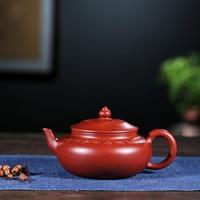 Yixing Bright Red Robe Full Manual Fan Zi Hong New Close Garden Pot Bright Red Robe Teapot Tea Set A Piece Of Generation Hair