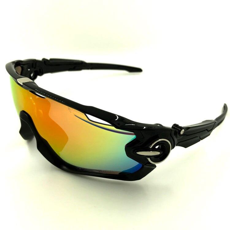 New Brand Designer 5 Lens Polarized Cycling font b Sunglasses b font Racing UV400 Glasses Bicycle