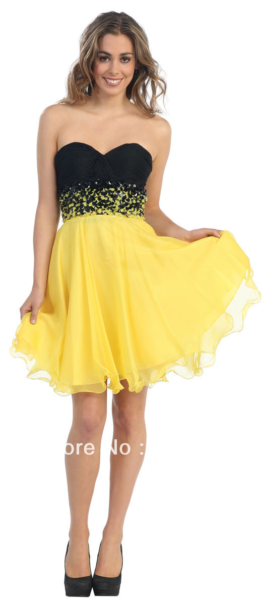 And Yellow Party Dress