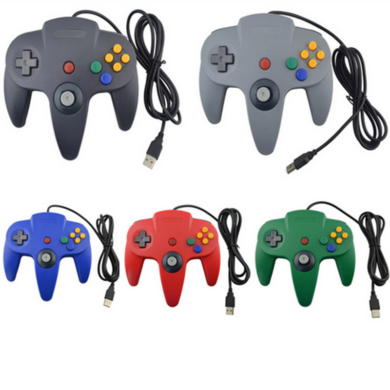 HAOBA Wired Joystick Controller Gamepad For N64 Controller with USB For PC Mac Controle цена 2017