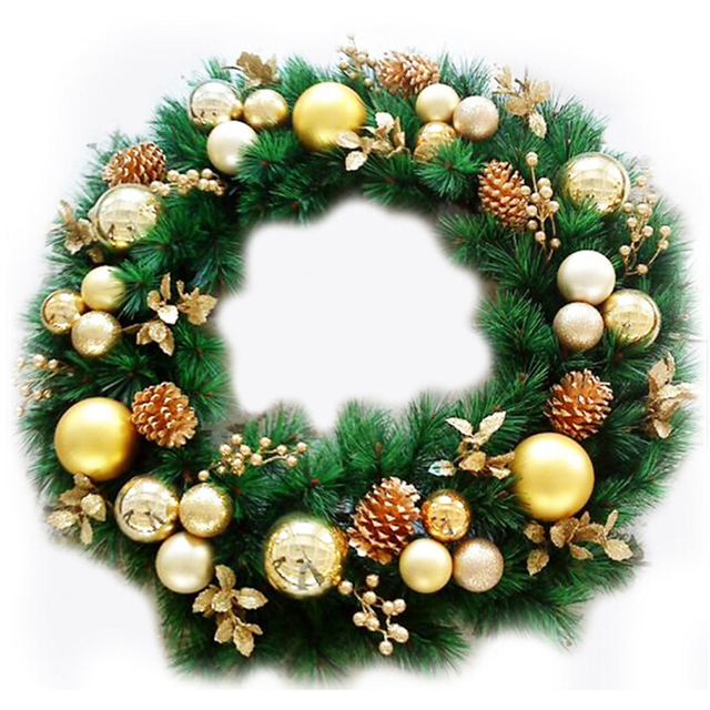 Us 1 81 30 Off Artificial Plant Pine Needles Xmas Tree Garland Wreath Decoration Diy Mixed Branchs Christmas Ornament Supplies In Tree Toppers From