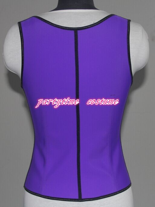 0408 purple latex rubber corset back