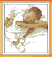 Care Baby Counted Cross Stitch 11CT Printed 14CT DMC Cross Stitch Set DIY Chinese Cotton Cross-stitch Kit Embroidery Needlework