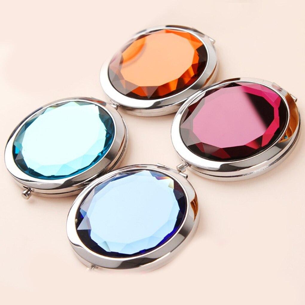 Haut Pflege Werkzeuge Heißer Verkauf 1 Pc Zufällige Farbe Neue Mini Faltbare Kristall Metall Kosmetische Kleinen Spiegel Make-up Spiegel SpäTester Style-Online-Verkauf Von 2019 50%