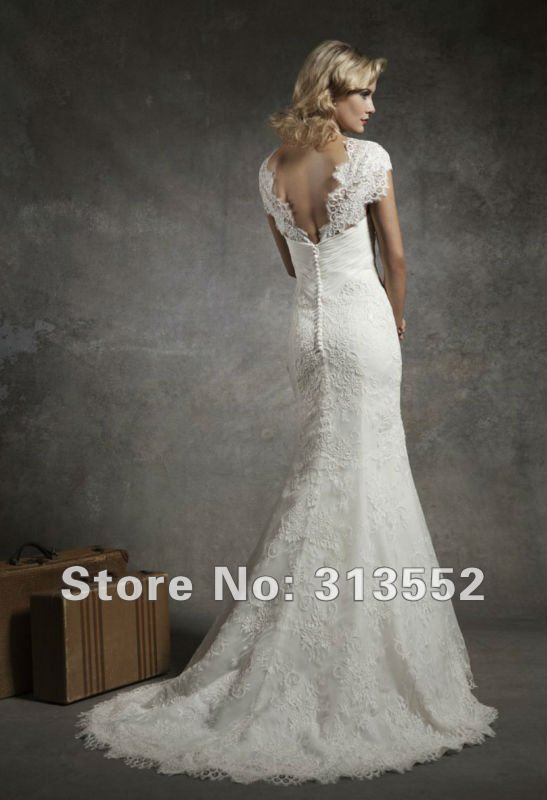 1920s inspired lace wedding dress