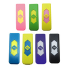 USB Electronic Lighters Rechargeable Battery Flameless Cigar Cigarette Lighter No flame Gas Fuel Lighter 7 Colors