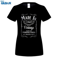 GILDAN T Shirt Cheap Sale Made In 1969 T-Born 48Th Year Birthday Age Present Funny Casual Short O-Neck T-Shirts