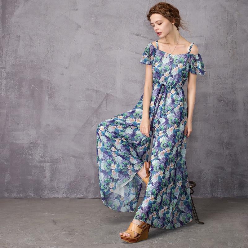 ARTKA 2018 Summer& Summer Chiffon Floral Strap Hollow out Shoulder Tallie Vintage   Jumpsuits   KA10370X