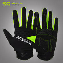 BASECAMP Thermal Fleece Cycling Gloves Full Finger Gel Touch Screen MTB Mountain Bicycle Motorcycle Racing Windproof Glove BC232