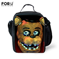 Bolsa Termica lancheiras FORUDESIGNS Cinco Noites no Freddys Térmica Lunch Box For Kids Crianças Alimentos Lunchbag Picnic Lunch Tote