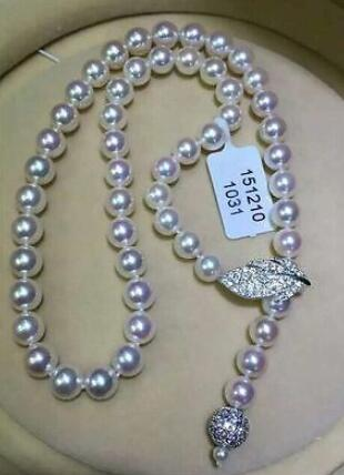 Jewelry single strand 9-10mm south sea round white pearl necklace 24silver Jewelry single strand 9-10mm south sea round white pearl necklace 24silver