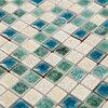 Green White Kiln Polished Porcelain Ceramic Tiles Mosaic HMCM1047 Kitchen Backsplashl Tile Bathroom Floor Ceramic Wall