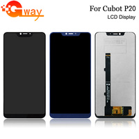 Black/Blue For CUBOT P20 LCD Display+Touch Screen Digitizer Assembly 100% Tested New LCD+Touch Digitizer for CUBOT P20+Tools