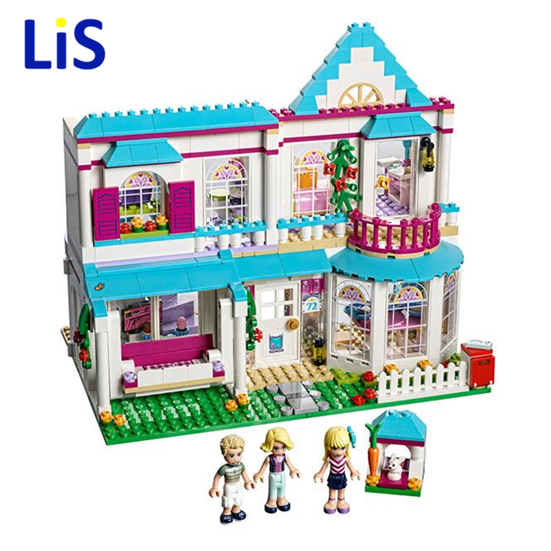 Lis 10612 649pcs Girl Friend Princess Stephanie\'s House Bela Building Block Compatible 41314 Brick Toy ynynoo bela 10501 233pcs princess friend elves elvendale school of dragons model building kits blocks brick with 41173