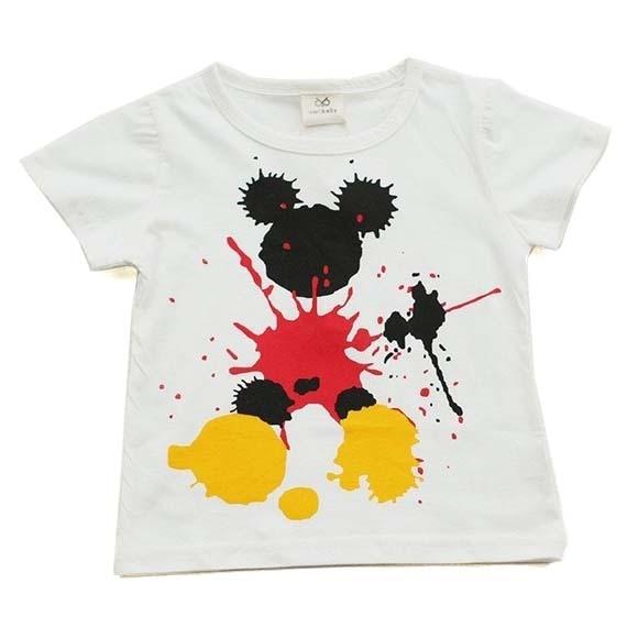 Baby Boy's Splash Mouse Printed T-Shirt 2