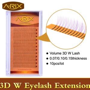 10packs Volume W 3D Eyelash Extension 0.07 0.10 0.15 Individual Eye Lashes Professional Makeup Tools Thick Long Lash From Korea