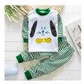 Envío libre 0-12 m underwear otoño invierno de manga larga, además de terciopelo de algodón del otoño pijamas niños ropa de bebé venta caliente a0014
