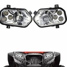 OEM Left & Right Hand ATV POLARIS RZR LED Headlight Kit H4 High Low Headlight Headlamp For POLARIS RZR 570 S 4 800 XP 900 Led