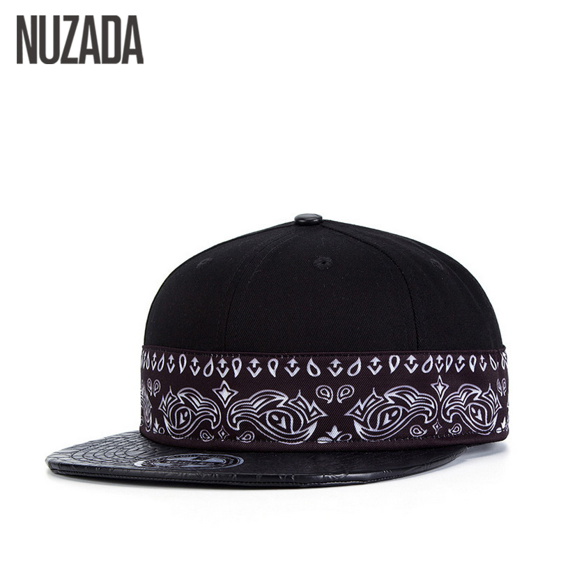 Brands NUZADA Hip Hop Hats  Women Men Baseball Caps 3D Thermal Transfer Snapback Bone Cap Creative PU Leather jt-056 mnkncl new fashion style neymar cap brasil baseball cap hip hop cap snapback adjustable hat hip hop hats men women caps