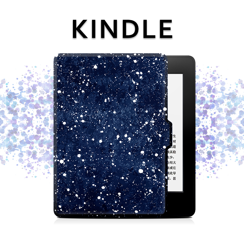 New Starry Sky Design Kindle Paperwhite Case 3 2 1, Folio Pu Leather Tablet Cover for Amazon Voyage /7th /8th Kindle Case 6 Inch upaitou flip case for amazon kindle paperwhite 1 2 3 cover for kindle 958 6th generation tablet case leather smart coque