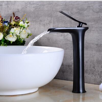 Best quality wholesale and retail total brass material no lead ORB plating bathroom sink high basin waterfall faucet  tap pastoralism and agriculture pennar basin india