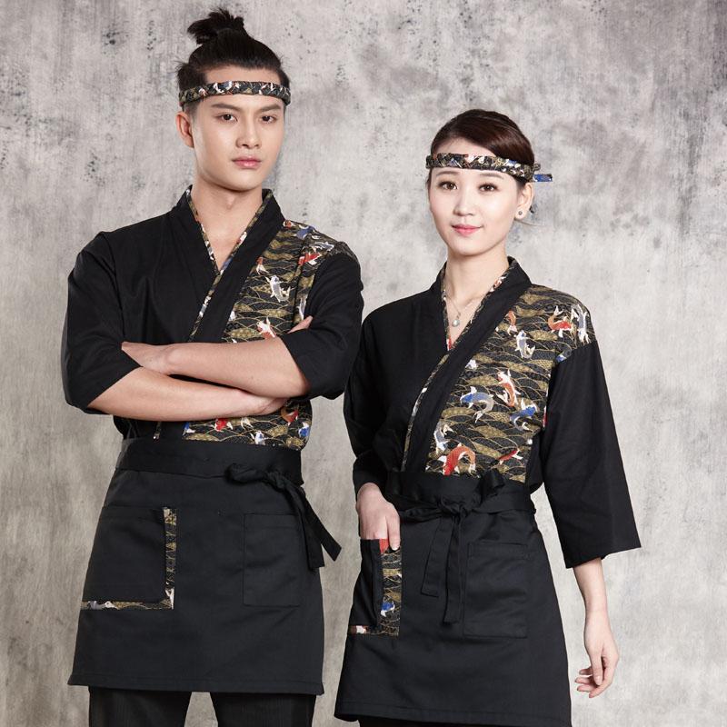 2019 uniformes de restaurant japonais chef uniforme service alimentaire réceptionniste serveuse uniforme vêtements