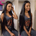 Long Silky Straight Front Lace Wig 100% Virgin Full Lace Human Hair Wigs Black Women 7A Brazilian Lacefront Wigs With Baby Hair