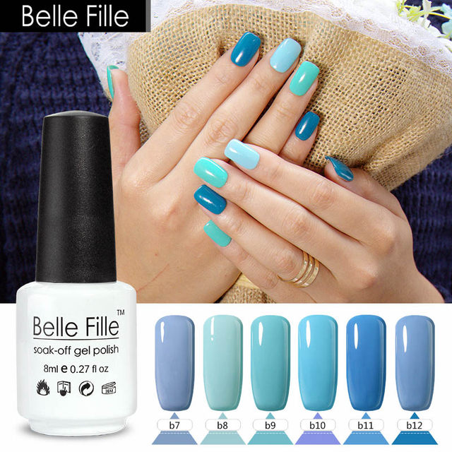 Online Shop 8ml Sky Blue Nail Polish Gel Hybrid Lacquer Celeste ...