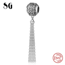 SG Style Original Charm beads silver 925 tassel Beads Fit Authentic pandora bracelet fashion Jewelry Gifts free delivery цена