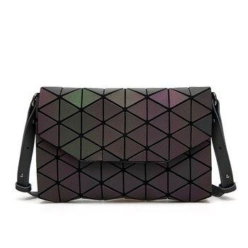 2018 Fashion Geometric Casual Clutch Messenger Bags Luminous Designer Women Evening Bag Shoulder Bags Girls  Flap Handbag