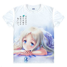 Japonés Anohana La Flor Que Vimos Ese Día Meiko Honma Menma anime t-shirt camisa de algodón Trajes de Cosplay