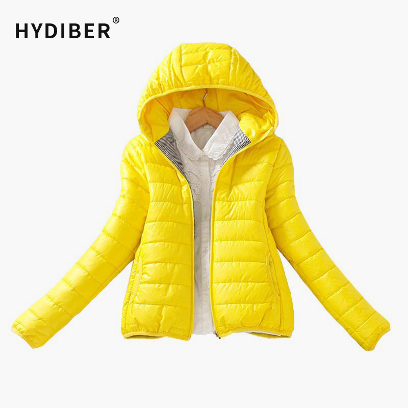 Solid Color Zipper Hooded Women Spring Jacket 2018 New Fashion Autumn Winter Slim Warm Ladies Coats Plus Size Outerwear 1